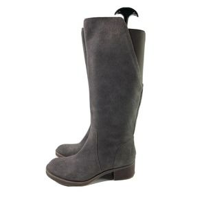 LUCKY BRAND Hanover Tall Riding Boots Grey 7.5
